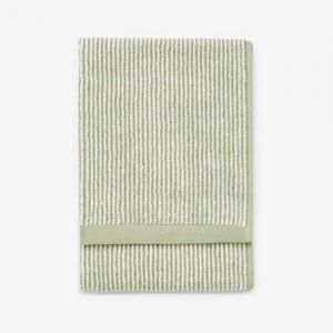 MARC O`POLO TIMELESS STRIPE GÄSTHANDDUK GREEN/OFF WHITE