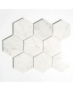 CARRARA HEXAGON HONED